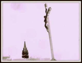 olibrius - contrepoints - crucifix dans la nuit